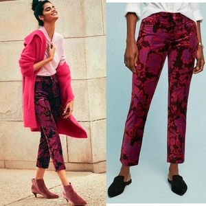 Anthropologie The Essential Velvet Slim Trousers 8